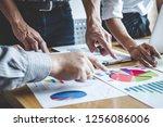 team work process  business... | Shutterstock . vector #1256086006