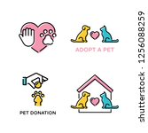 vector pet love design poster... | Shutterstock .eps vector #1256088259