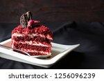Red Velvet Cake Decorated Rose...