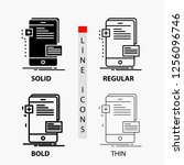 frontend  interface  mobile ... | Shutterstock .eps vector #1256096746