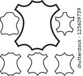 leather symbol outline. vector | Shutterstock .eps vector #125609759