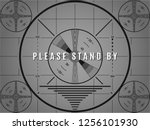 vintage tv test screen. please... | Shutterstock .eps vector #1256101930