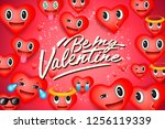 valentine's day background with ... | Shutterstock .eps vector #1256119339