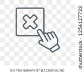 close icon. close design...   Shutterstock .eps vector #1256127733