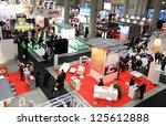 milan  italy   oct. 20  people... | Shutterstock . vector #125612888