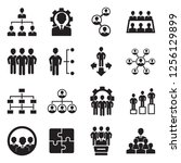organization icons. black flat... | Shutterstock .eps vector #1256129899