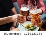 alcohol and food | Shutterstock . vector #1256131186