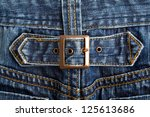 Blue Denim Jeans Texture With...