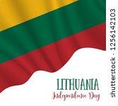 16 february  lithuania... | Shutterstock .eps vector #1256142103
