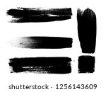 grunge paint stripe . vector... | Shutterstock .eps vector #1256143609