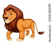vector illustration of a strong ... | Shutterstock .eps vector #1256150299