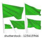 green vector flags. a set of 5... | Shutterstock .eps vector #125615966