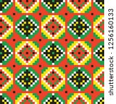 colored embroidery border.... | Shutterstock .eps vector #1256160133
