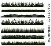 black grass silhouettes   Shutterstock .eps vector #1256177503