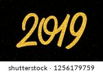 happy new year 2019 greeting...   Shutterstock . vector #1256179759