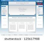 website template set | Shutterstock .eps vector #125617988