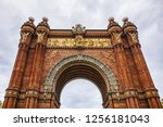 architectural fragments of... | Shutterstock . vector #1256181043