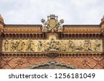 architectural fragments of... | Shutterstock . vector #1256181049