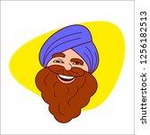 sardar ji cartoon character...   Shutterstock .eps vector #1256182513
