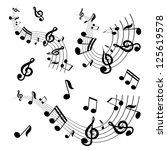 vector musical notes vector... | Shutterstock .eps vector #125619578