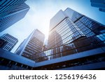 commercial buildings in... | Shutterstock . vector #1256196436