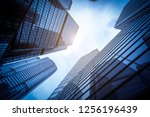 commercial buildings in... | Shutterstock . vector #1256196439