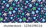 amazing floral vector seamless... | Shutterstock .eps vector #1256198116