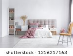 white rug on the floor of... | Shutterstock . vector #1256217163