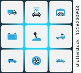 auto icons colored set with... | Shutterstock .eps vector #1256230903