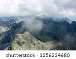 view of the mountain range in... | Shutterstock . vector #1256234680
