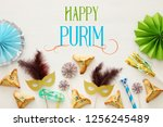 purim celebration concept ...   Shutterstock . vector #1256245489