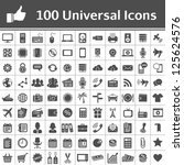 100 universal icons. simplus... | Shutterstock .eps vector #125624576