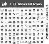 100 universal icons. simplus... | Shutterstock .eps vector #125624576
