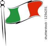 italian flag | Shutterstock .eps vector #1256251