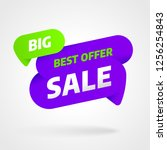 sale banner template design ... | Shutterstock .eps vector #1256254843