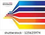 colored arrows vector. eps10