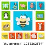 an unrealistic flat animal... | Shutterstock .eps vector #1256262559