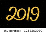 happy new year 2019 greeting...   Shutterstock . vector #1256263030