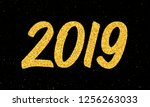 happy new year 2019 greeting...   Shutterstock . vector #1256263033
