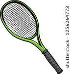 the illustration shows a tennis ... | Shutterstock .eps vector #1256264773