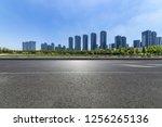 panoramic skyline and modern... | Shutterstock . vector #1256265136