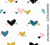 vector seamless pattern with... | Shutterstock .eps vector #1256266840