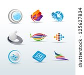 set of  icons vector... | Shutterstock .eps vector #125627834