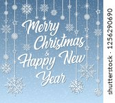 merry christmas and happy new... | Shutterstock .eps vector #1256290690
