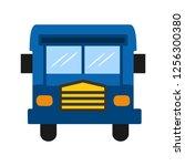 bus flat multi color icon | Shutterstock .eps vector #1256300380
