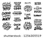 cooking slogans handwritten... | Shutterstock .eps vector #1256305519