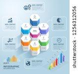 business infographics design...   Shutterstock .eps vector #1256312056