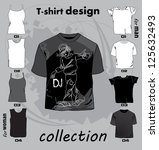 abstract t shirt design vector... | Shutterstock .eps vector #125632493