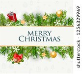 christmas greeting card | Shutterstock .eps vector #1256329969