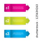 set of colorful stickers for... | Shutterstock .eps vector #125634263